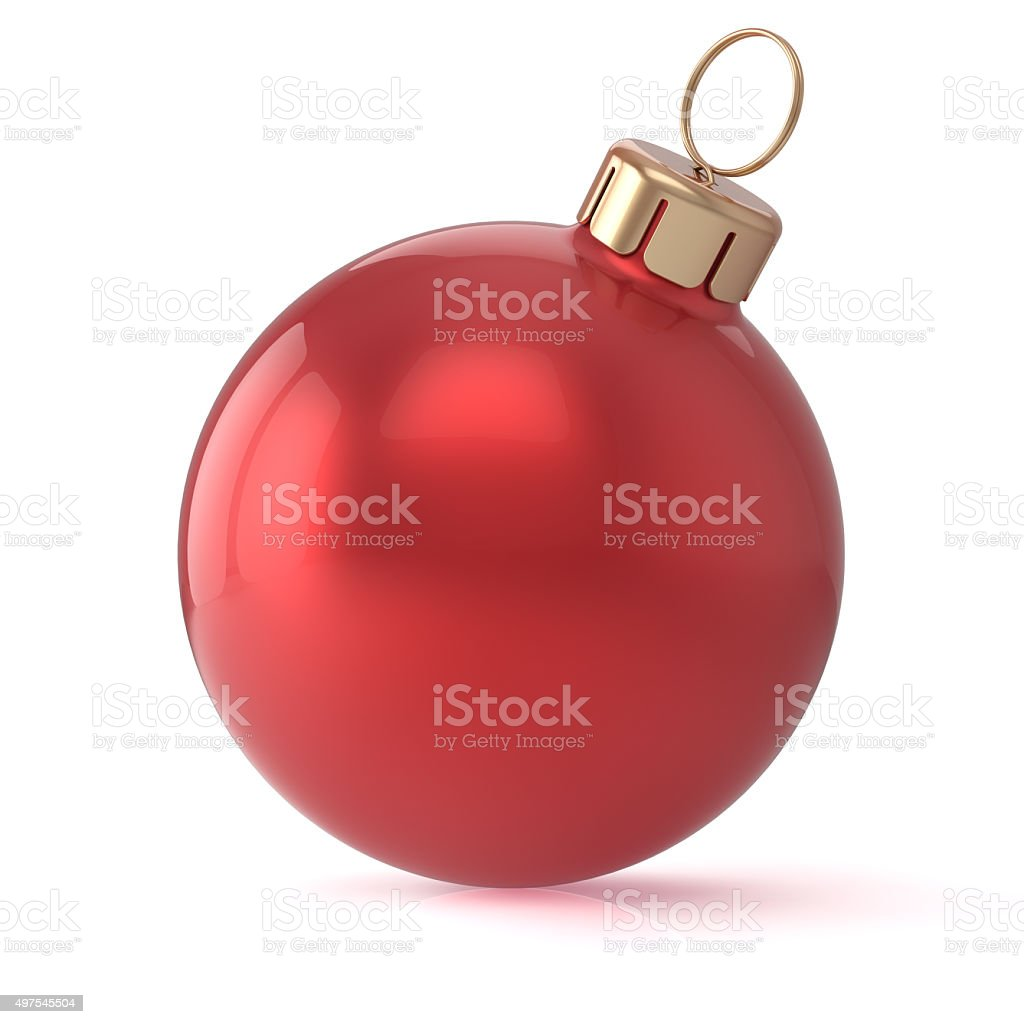 Christmas ball red New Year's Eve bauble wintertime decoration stock photo