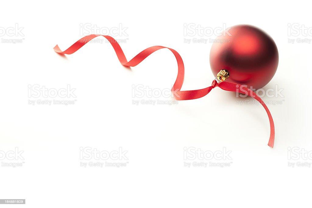Christmas Ball & Red Ribbon royalty-free stock photo