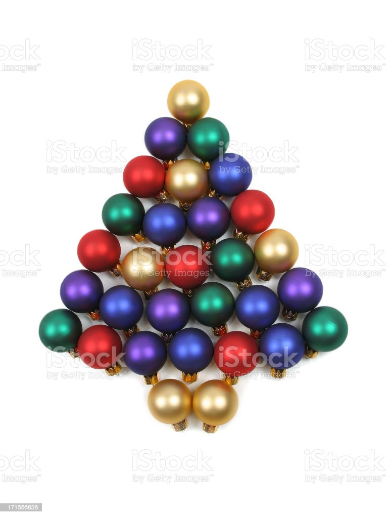 Christmas Ball Series (isolated on a white background) royalty-free stock photo