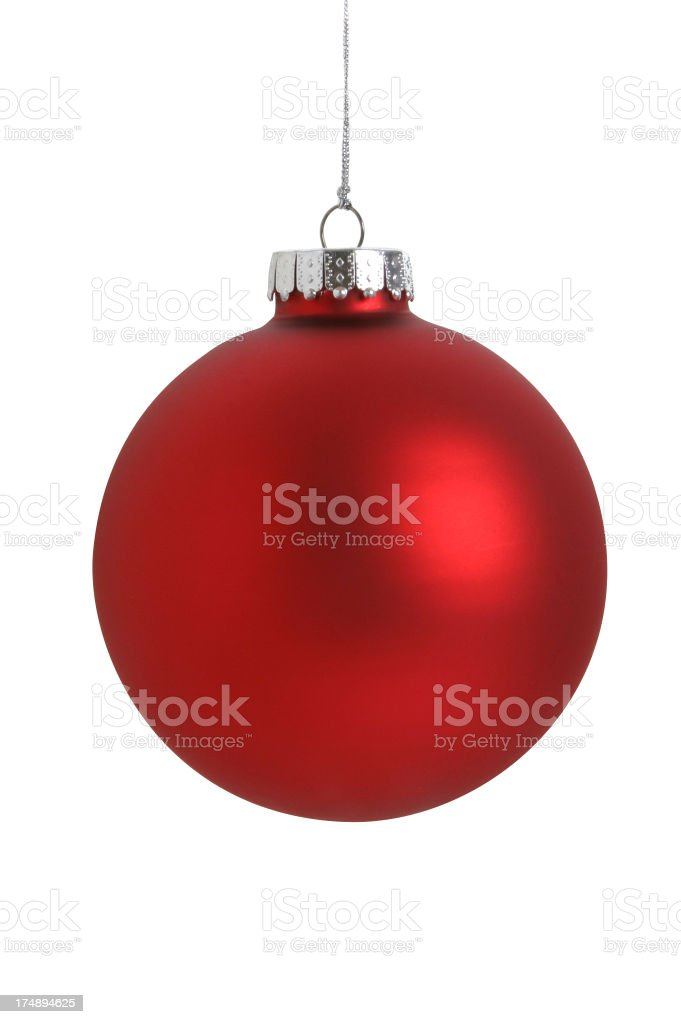 Christmas Ball Series (WITH A CLIPPING PATH) stock photo