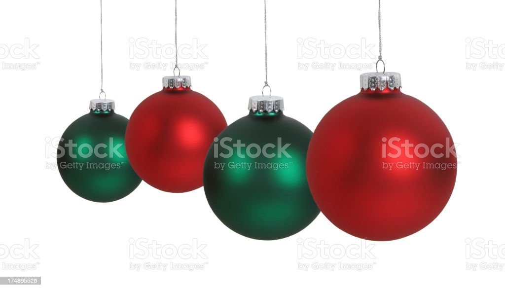 Christmas Ball Series (isolated on white) royalty-free stock photo
