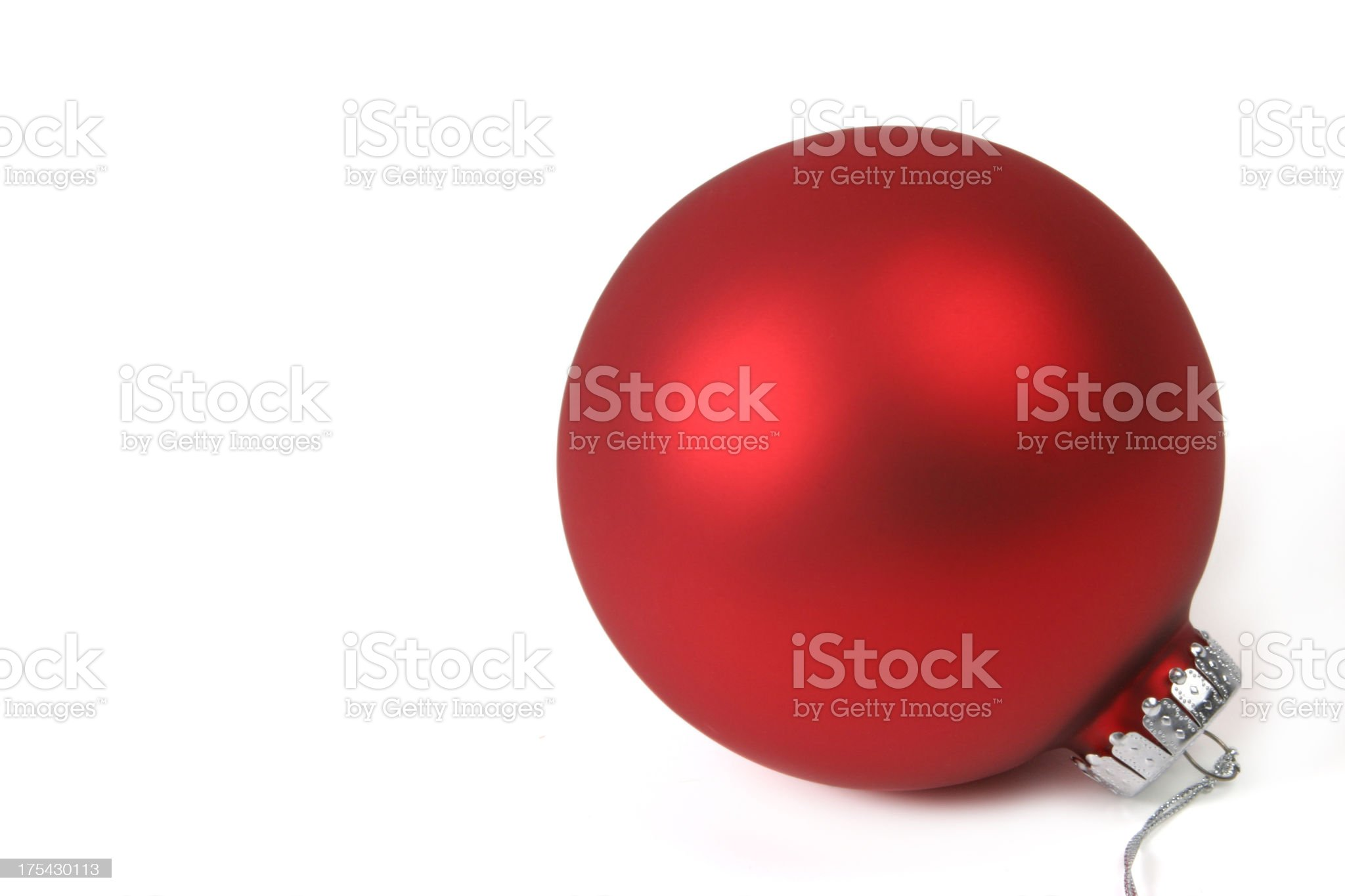 Christmas Ball Series (on white with copy space) royalty-free stock photo