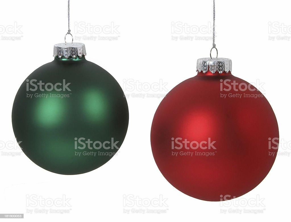 Christmas Ball Series (isolated on a white background) stock photo