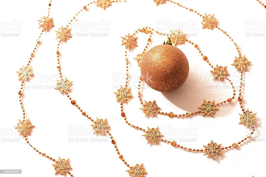 Christmas ball with chain. royalty-free stock photo