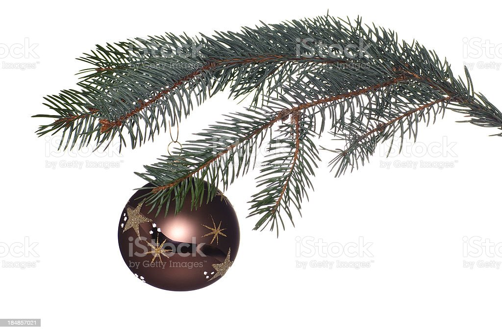 Christmas ball with star royalty-free stock photo