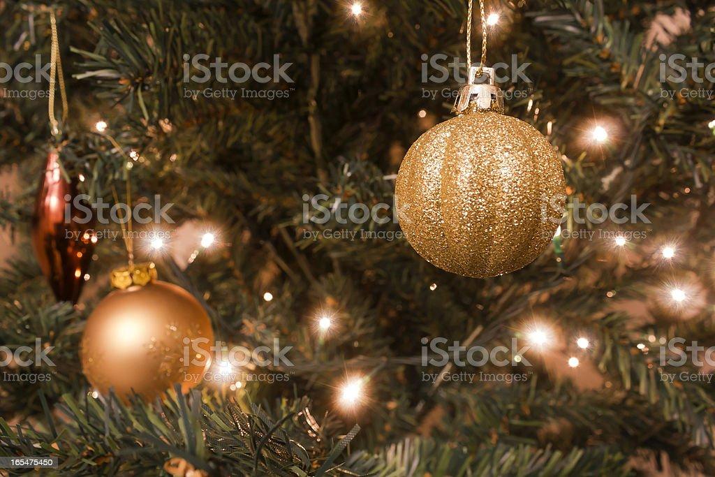 Christmas balls and lights royalty-free stock photo