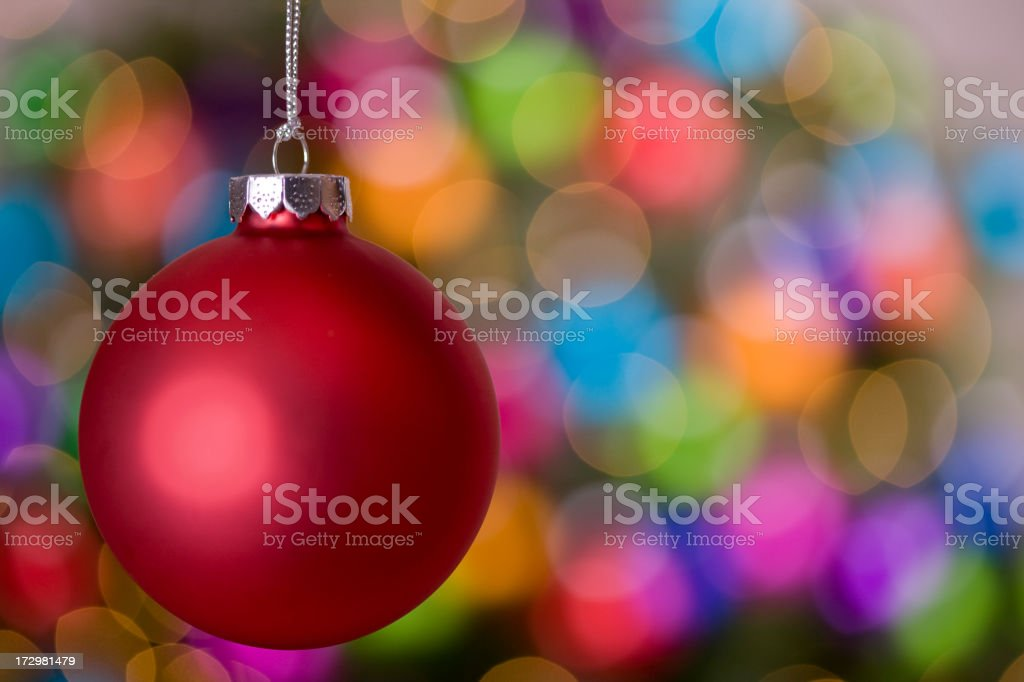 Christmas Balls and Lights (XXL) royalty-free stock photo
