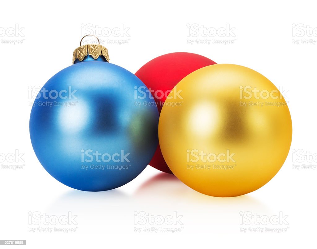 Christmas balls isolated on the white background stock photo