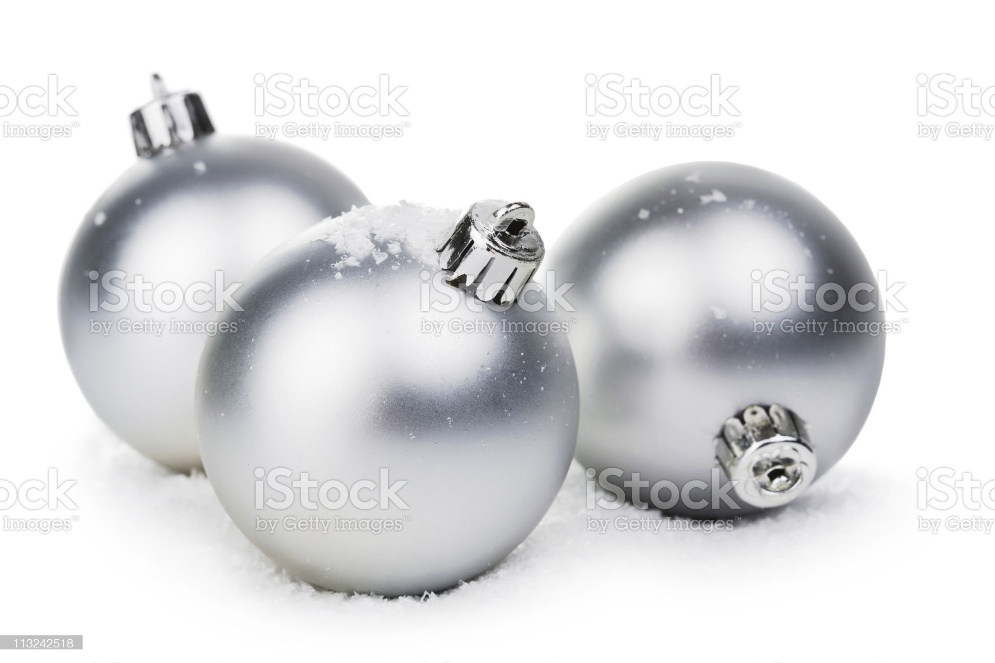 christmas balls isolated royalty-free stock photo