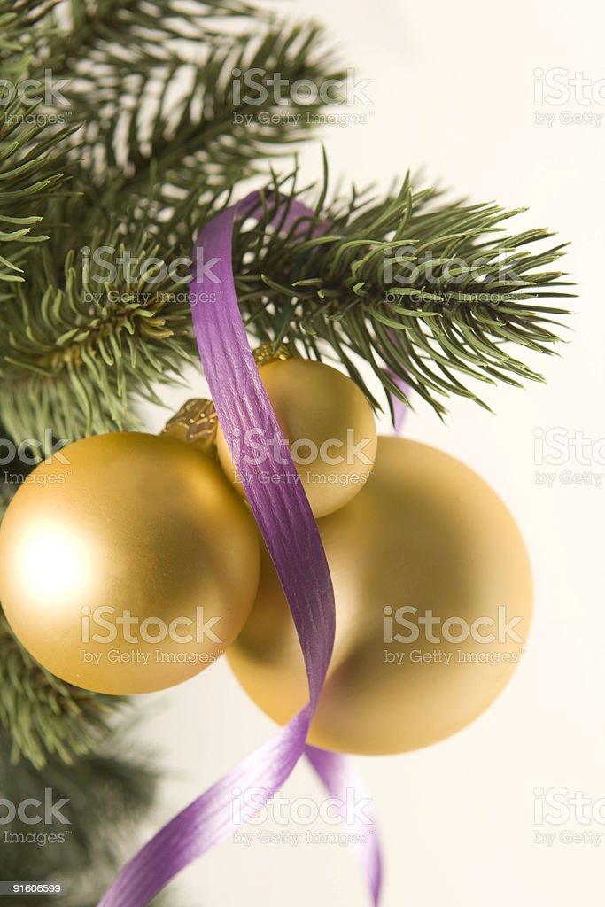 christmas balls on the tree royalty-free stock photo