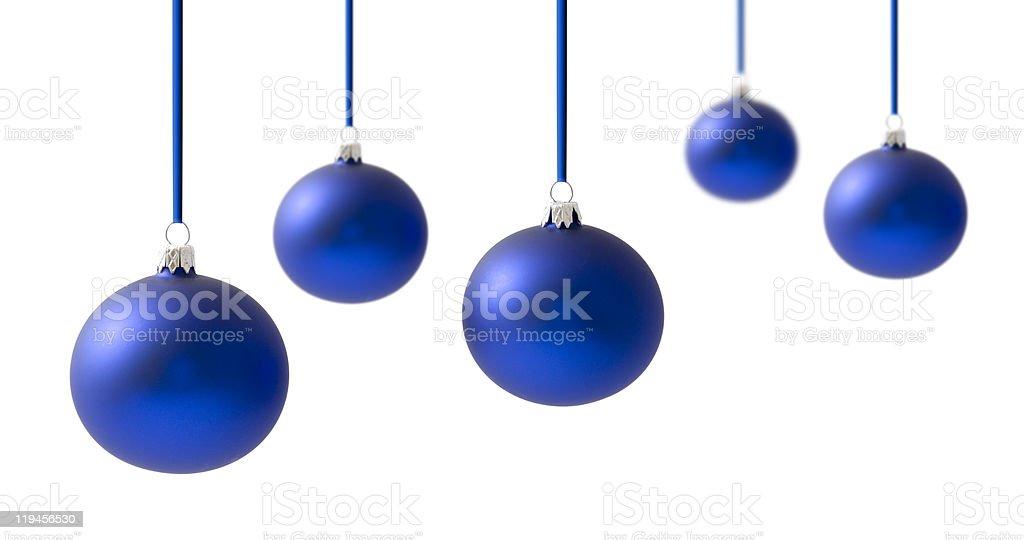 Christmas balls on white royalty-free stock photo