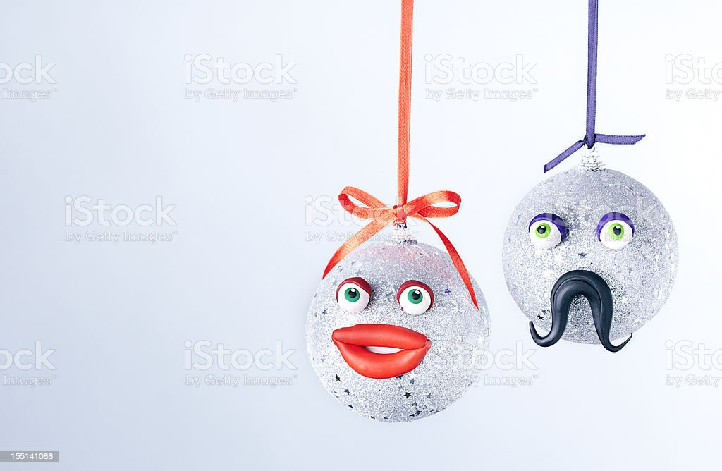 Christmas balls portrait. royalty-free stock photo