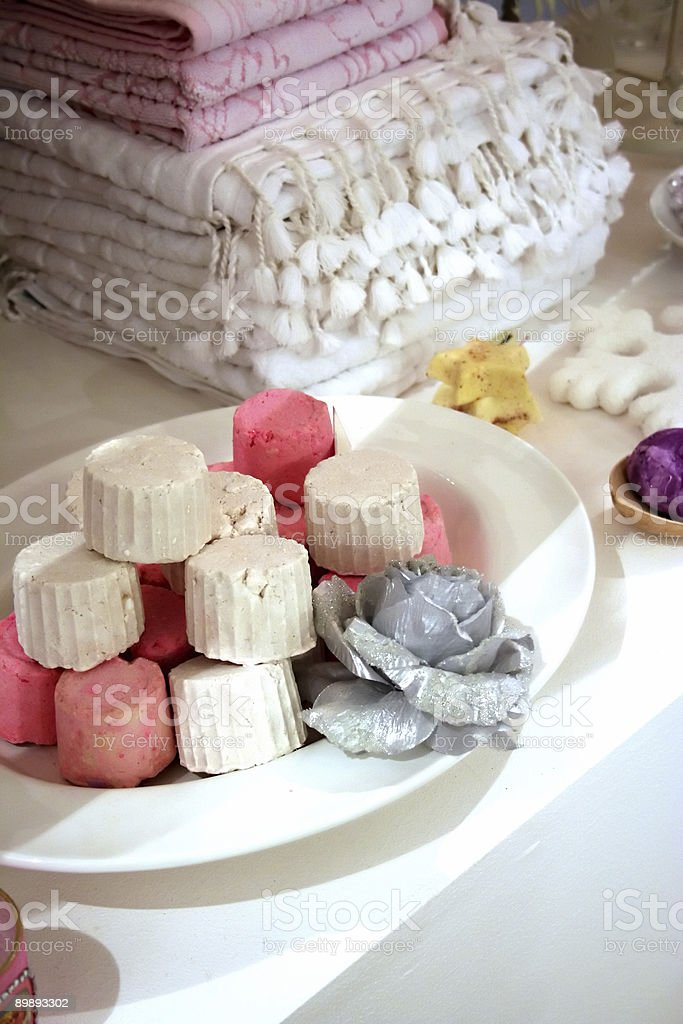 christmas bath (spa products) royalty-free stock photo