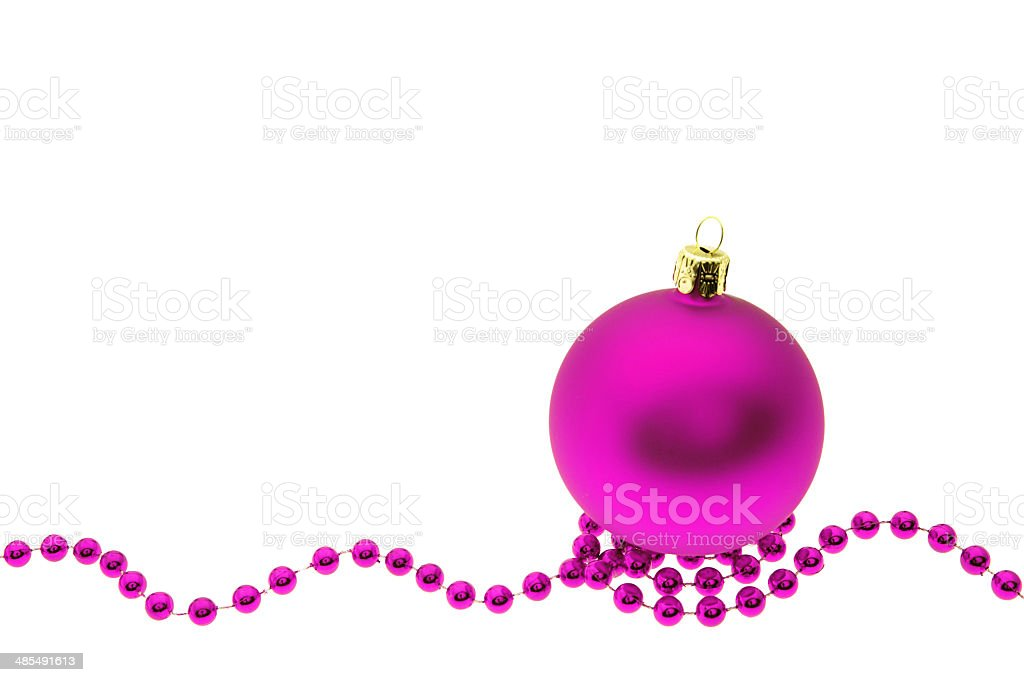 Christmas bauble and decoration isolated on white stock photo