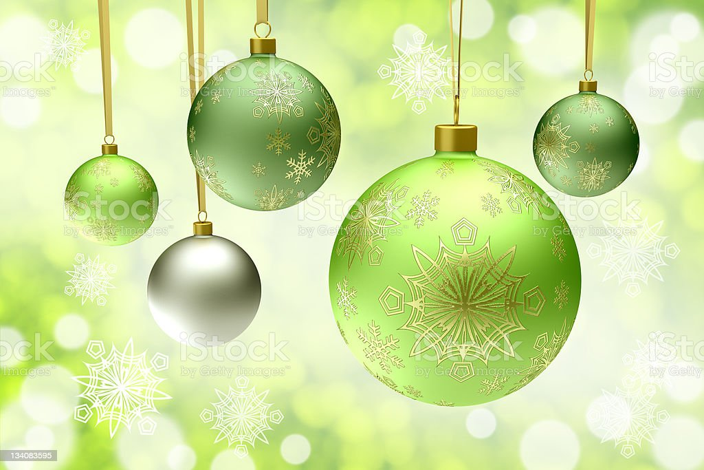 christmas bauble balls royalty-free stock photo