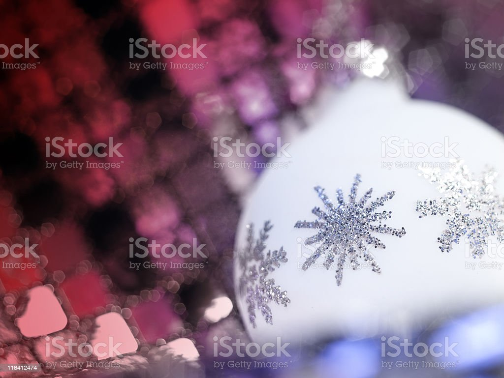 Christmas bauble detail royalty-free stock photo