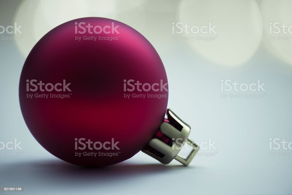 Christmas Bauble in the Dark stock photo
