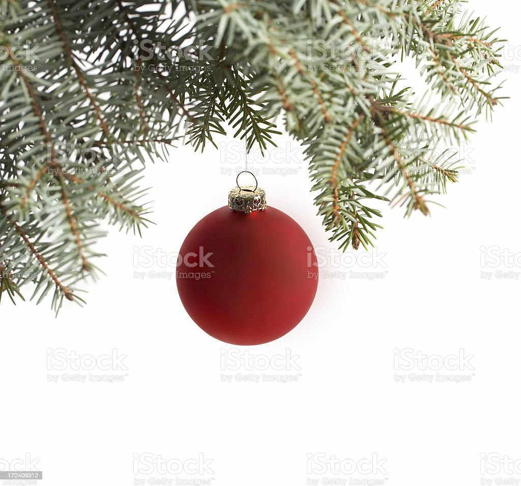 Christmas bauble, isolated on white background royalty-free stock photo
