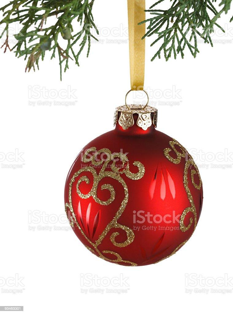 Christmas Bauble Isolated on white stock photo