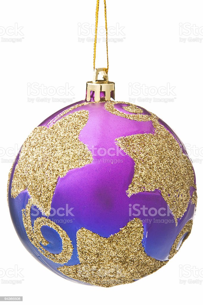 Christmas bauble isolated royalty-free stock photo