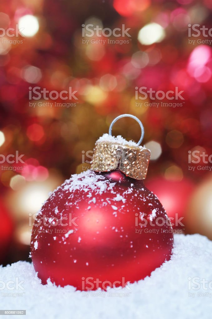 Christmas bauble stock photo