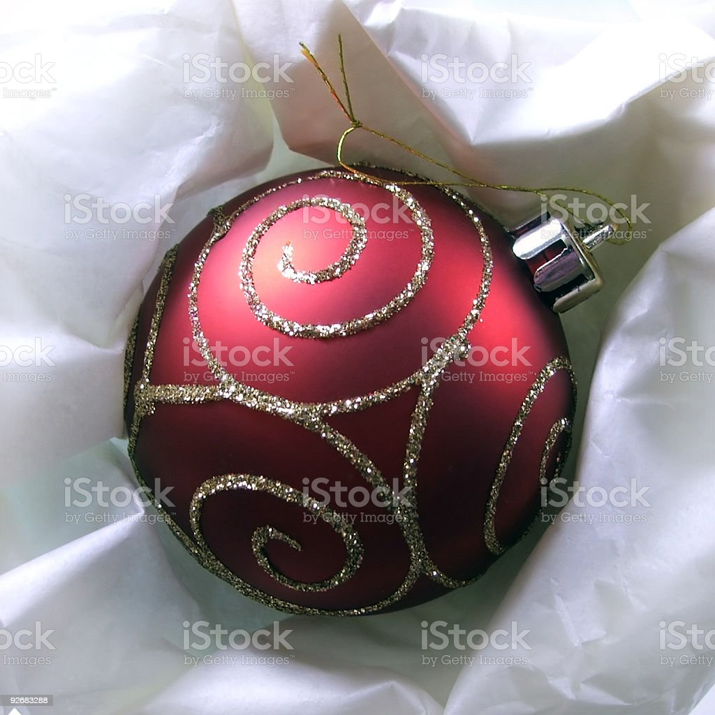 Christmas Bauble Red Wrapped royalty-free stock photo