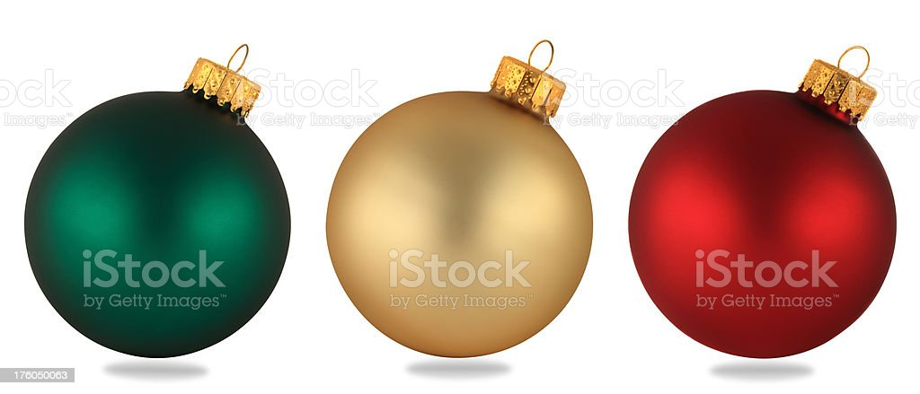 Christmas Bauble Trio stock photo