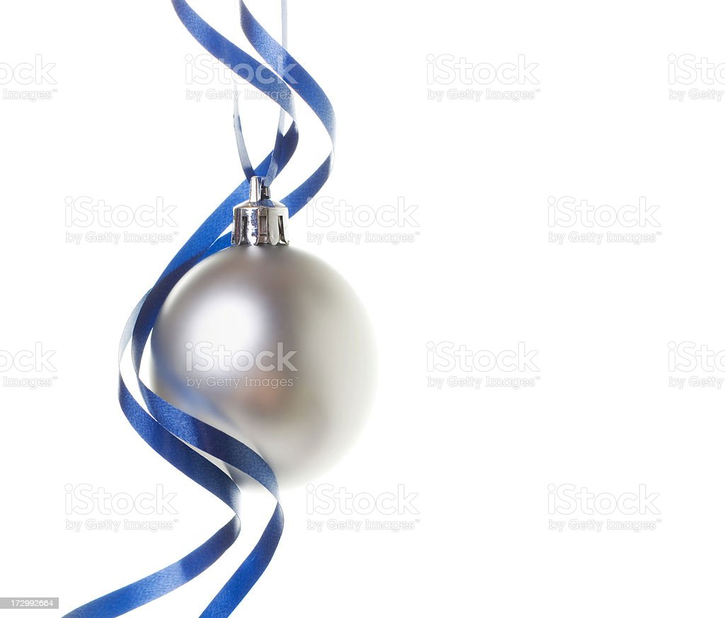 Christmas Bauble with Ribbons (XL) royalty-free stock photo