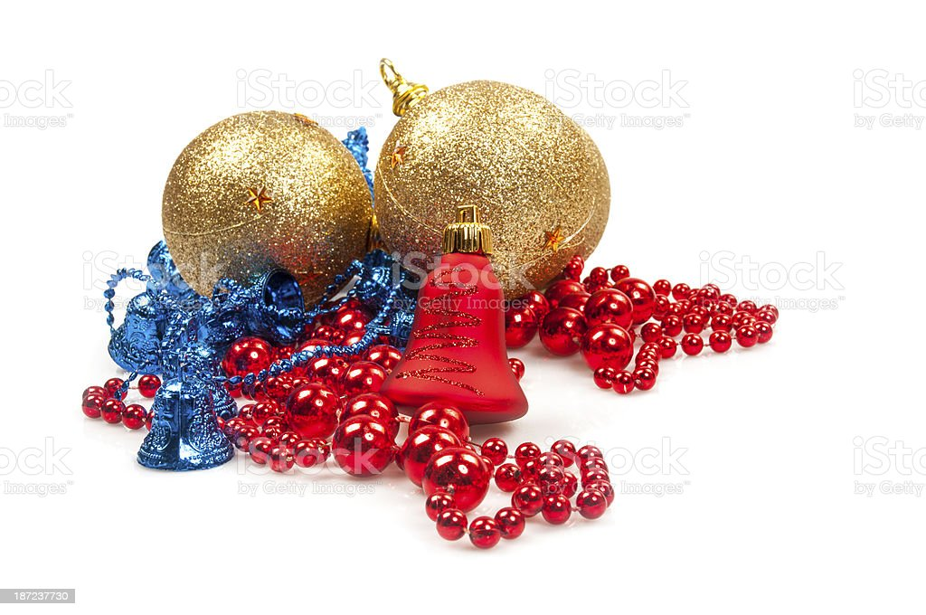 Christmas baubles and balls royalty-free stock photo