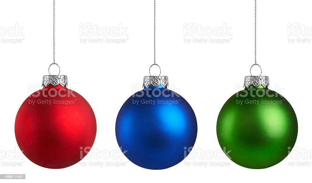 Christmas baubles Group stock photo