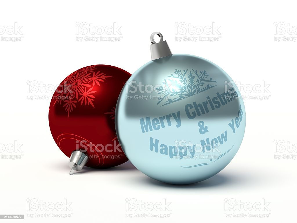 Christmas baubles. stock photo