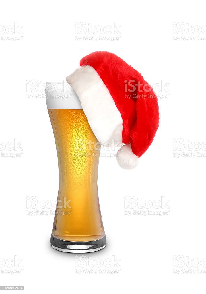 Christmas beer royalty-free stock photo