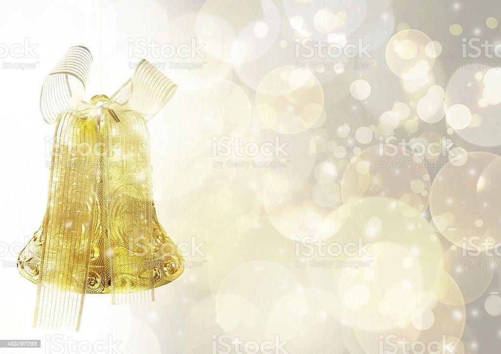 Christmas Bell фон Стоковые фото Стоковая фотография