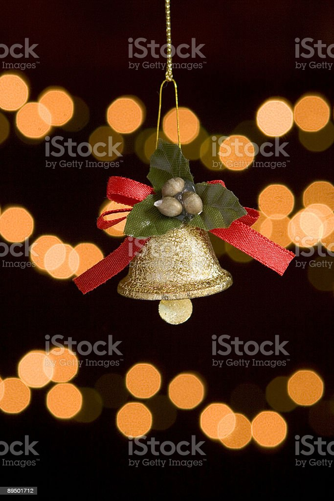 Christmas bell royalty-free stock photo