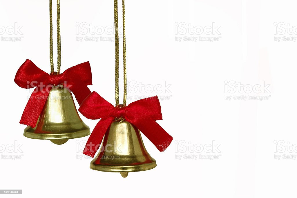 Christmas Bell Solo stock photo