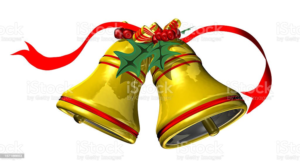 Christmas Bells (Clip Path) royalty-free stock photo