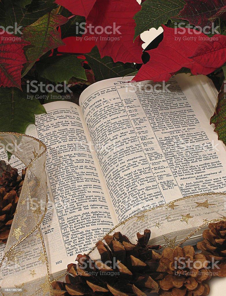 Christmas Bible (KJV) royalty-free stock photo