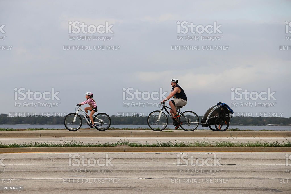 Christmas Bicycle Ride stock photo