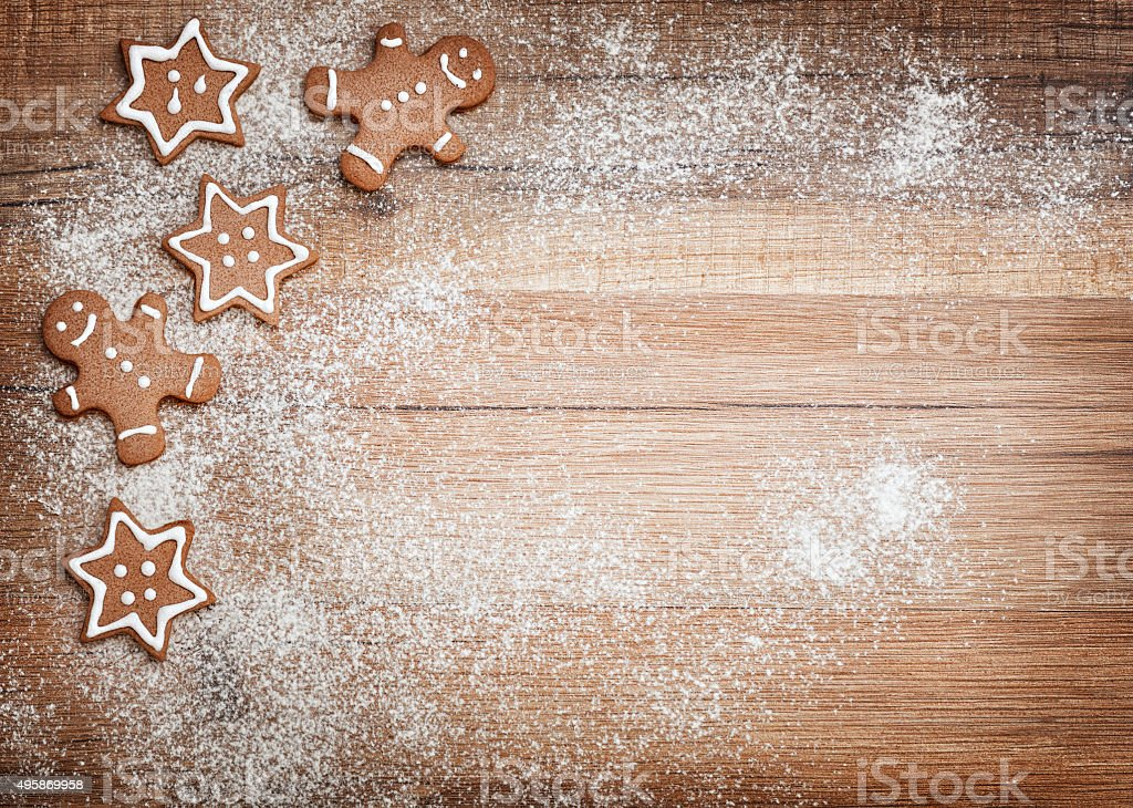 Christmas biscuits, gingerbread stock photo