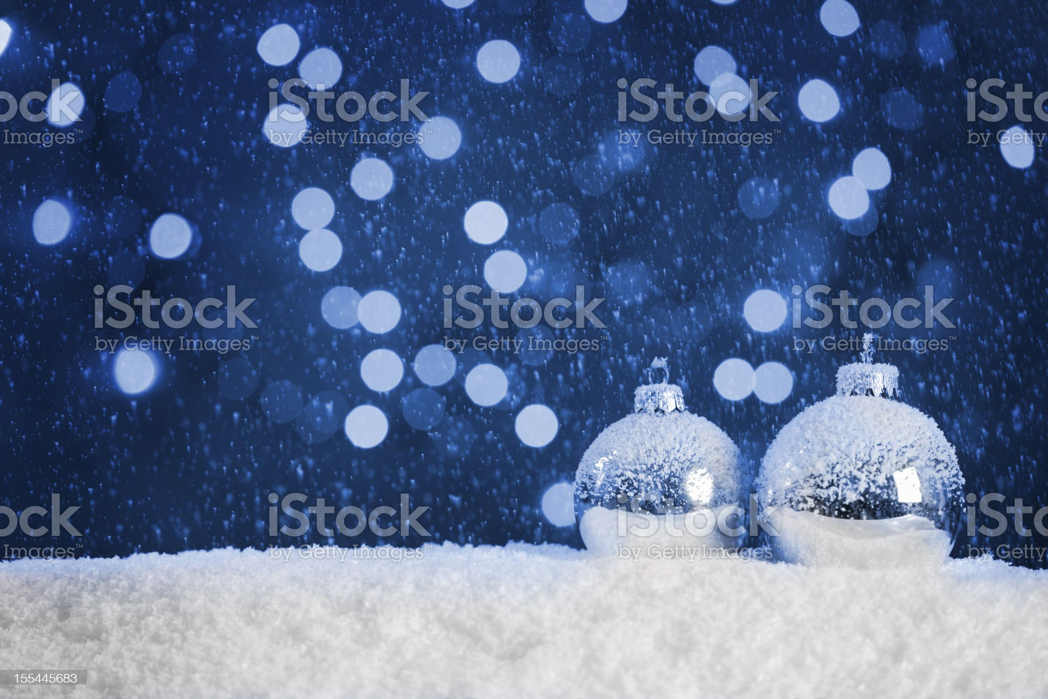 Christmas blue background with copy space royalty-free stock photo
