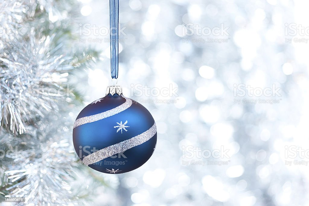 Christmas blue bauble royalty-free stock photo