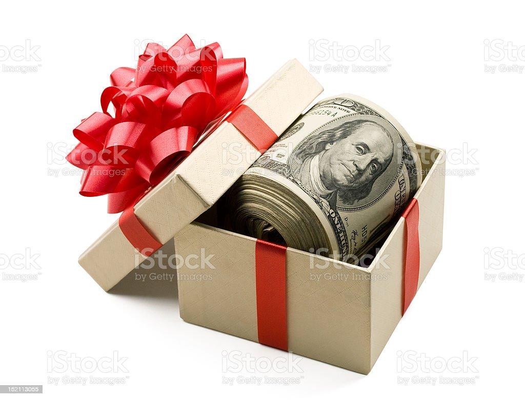 Christmas bonus royalty-free stock photo