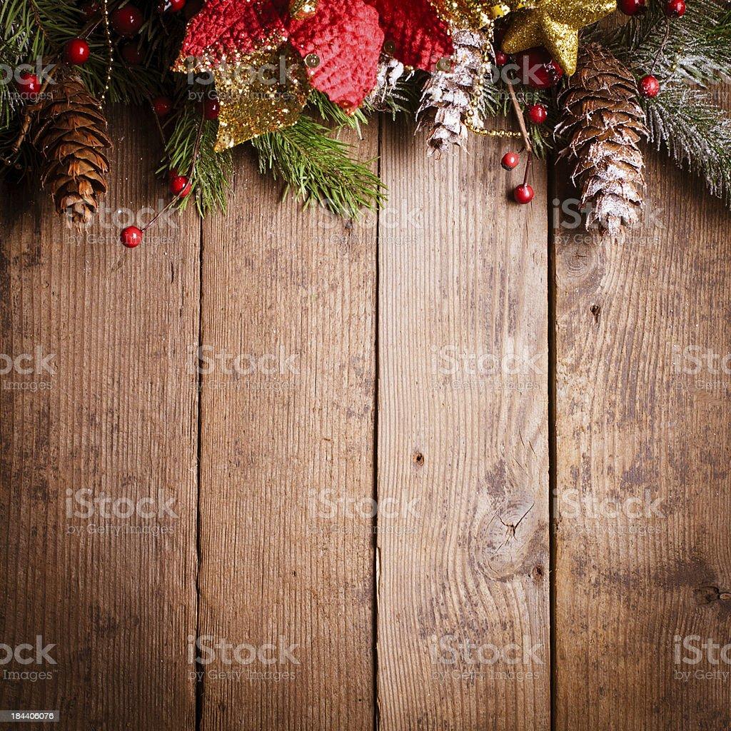 Christmas border design stock photo