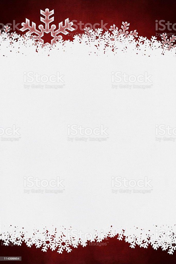 Christmas border on white canvas background stock photo