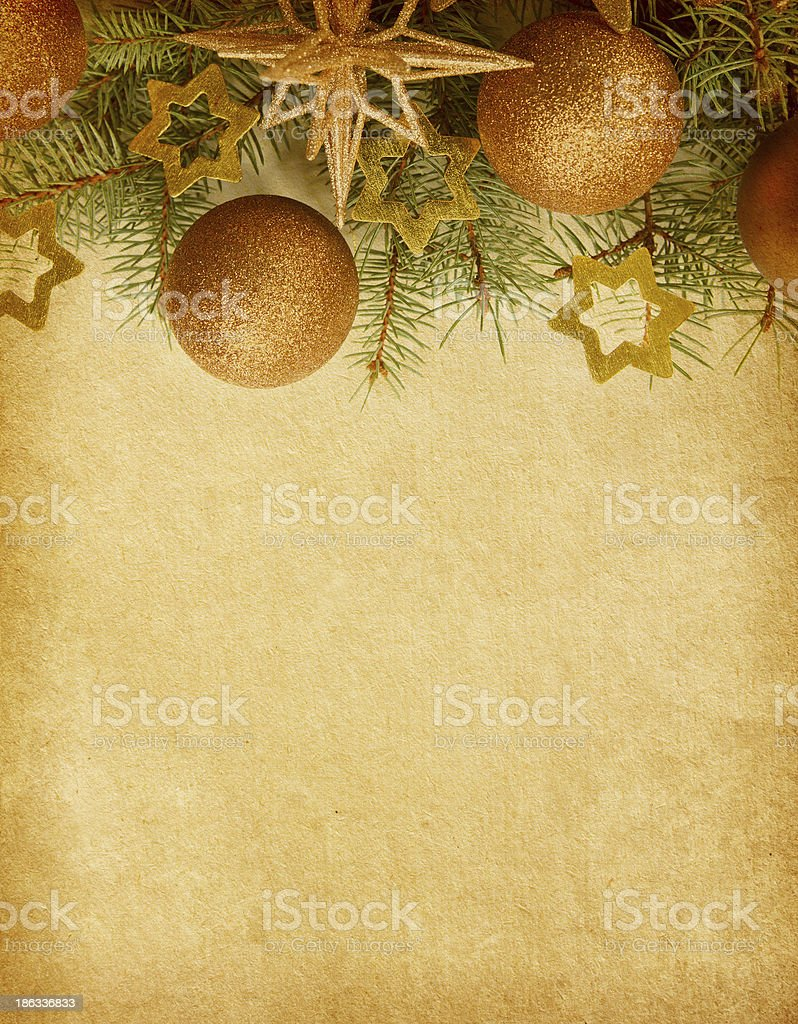 Christmas border. royalty-free stock photo