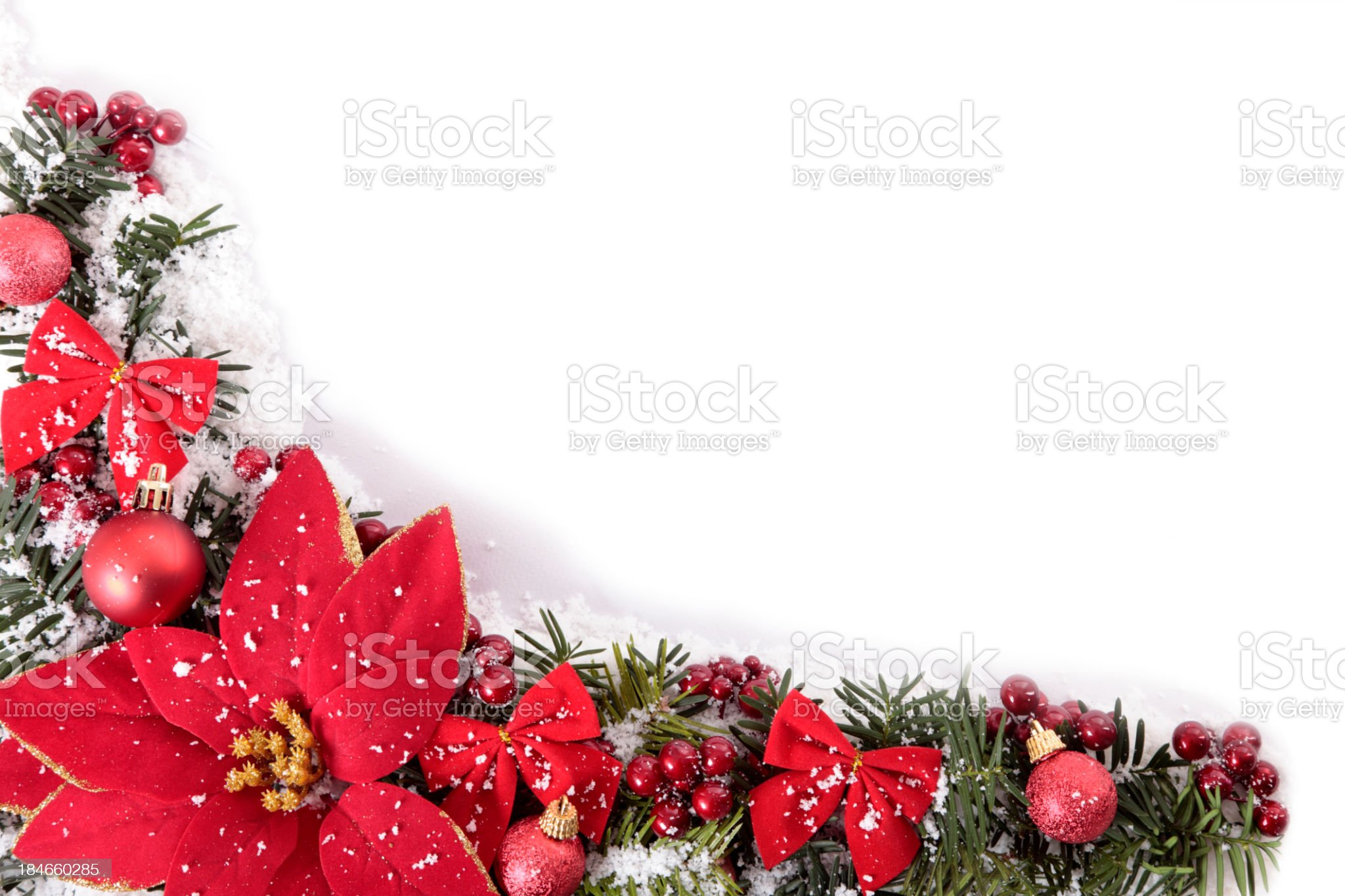 Christmas border with copy space royalty-free stock photo