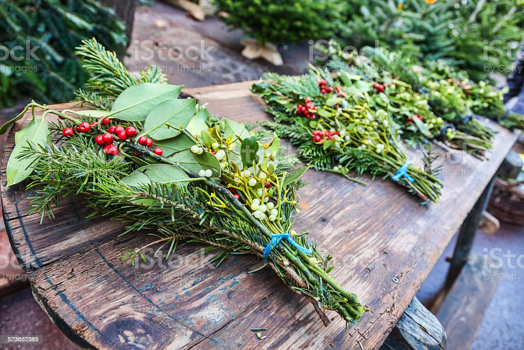 Christmas Bouquets stock photo
