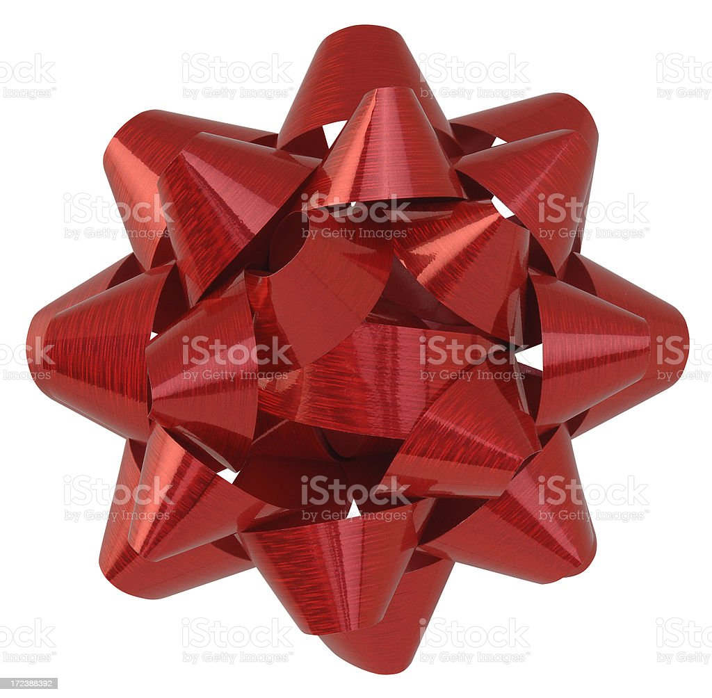 Christmas Bow with Path royalty-free stock photo