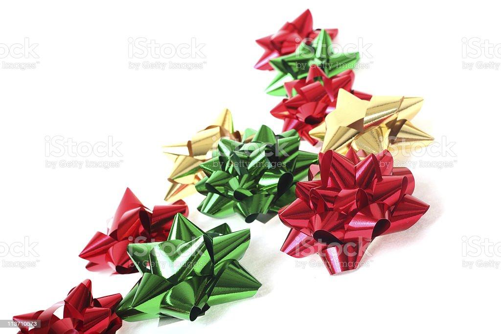 christmas bows stock photo