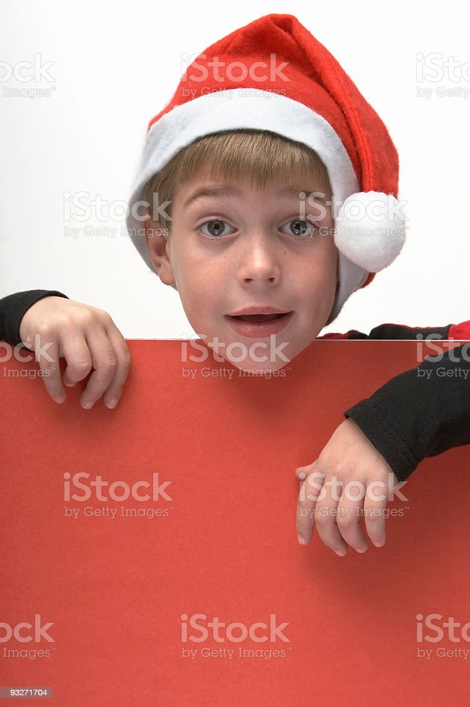 Christmas Boy royalty-free stock photo